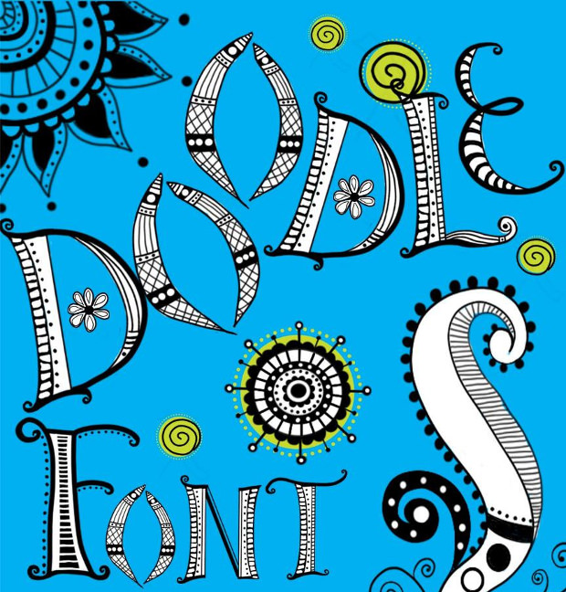 15  fun doodle fonts