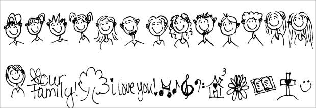 Pea Family Joy Doodles Font
