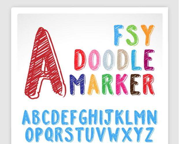 fsy doodle font
