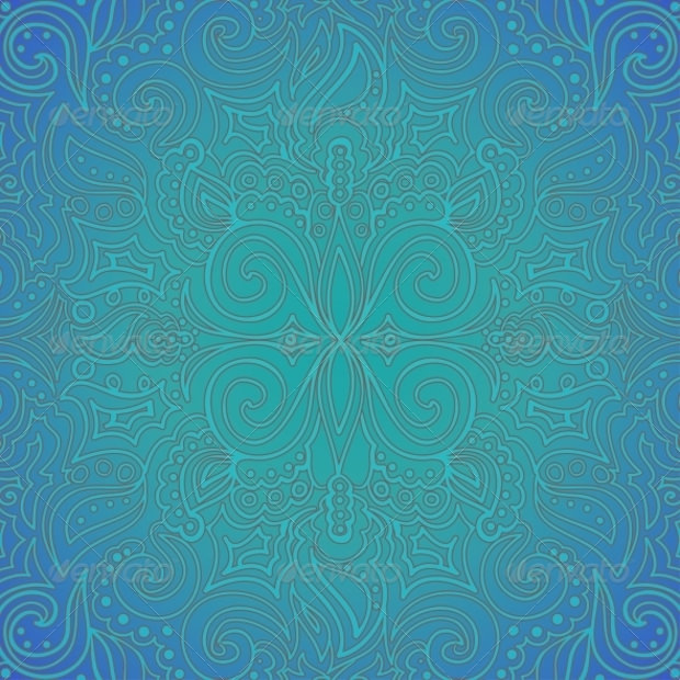 Background Blue Ornate Pattern