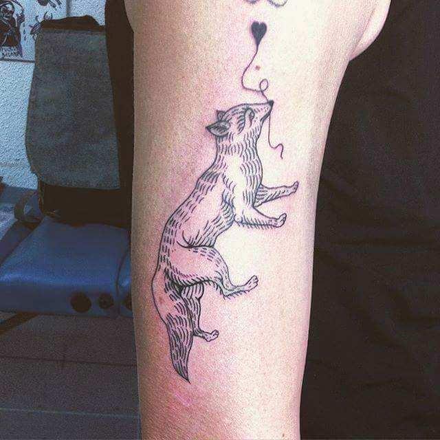 simple fox tattoo design