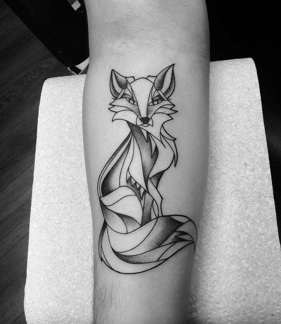 natural simple fox tattoo design