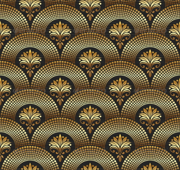Ornate Golden Pattern