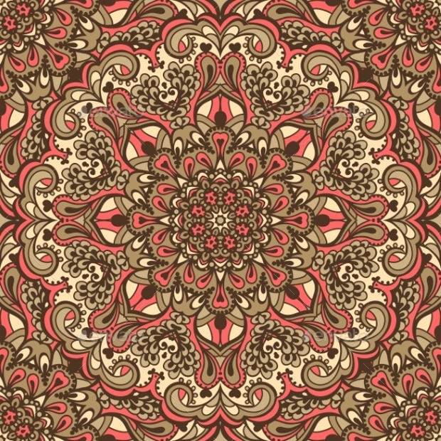 Oriental Ornate Design Pattern