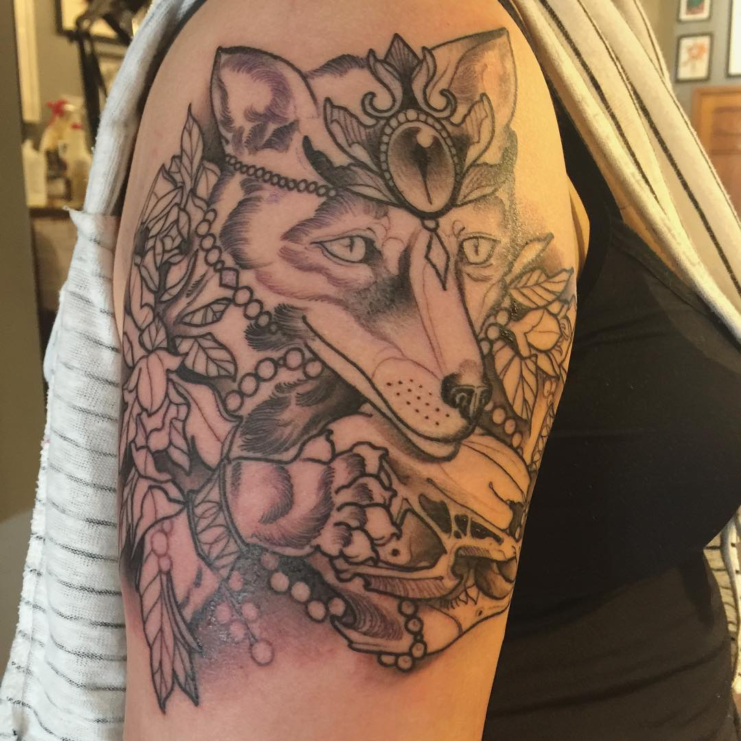 Fox Full Tattoo Design