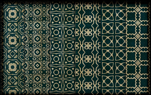 Royal Green Ornate Pattern