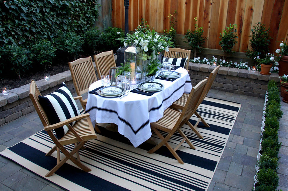 Traditional-patio Garden Table Designs