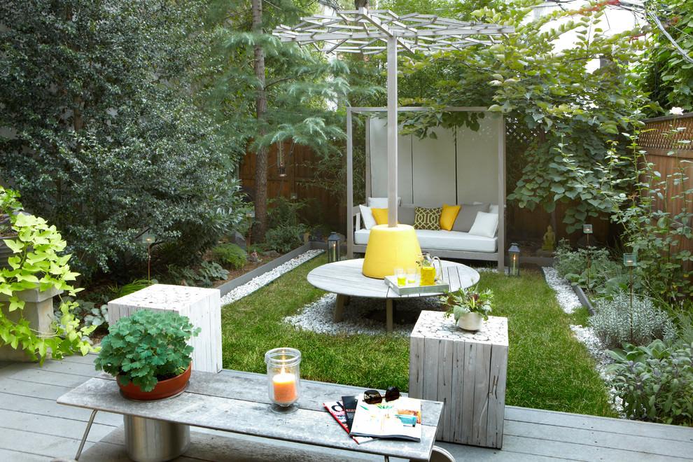 Garden Table in Green Garden landscape