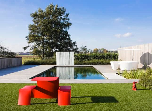 Picnic table-original design-aluminum-garden