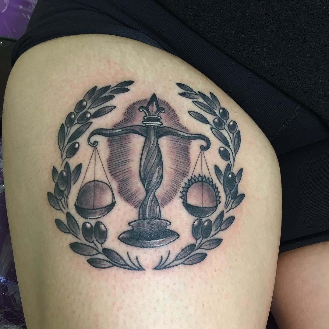 Cute Tattoo of Libra
