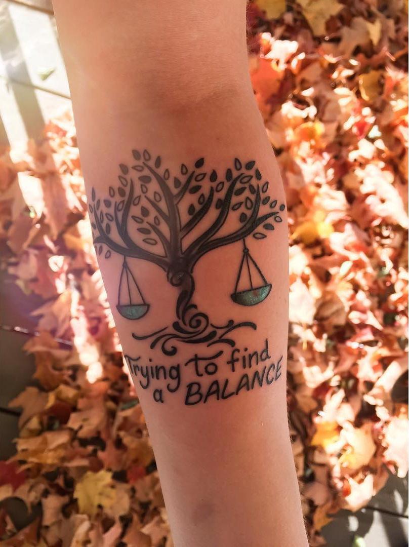 Fantastic Tattoo of Libra