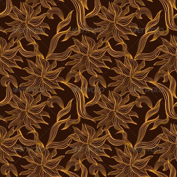 Floral Brown Pattern