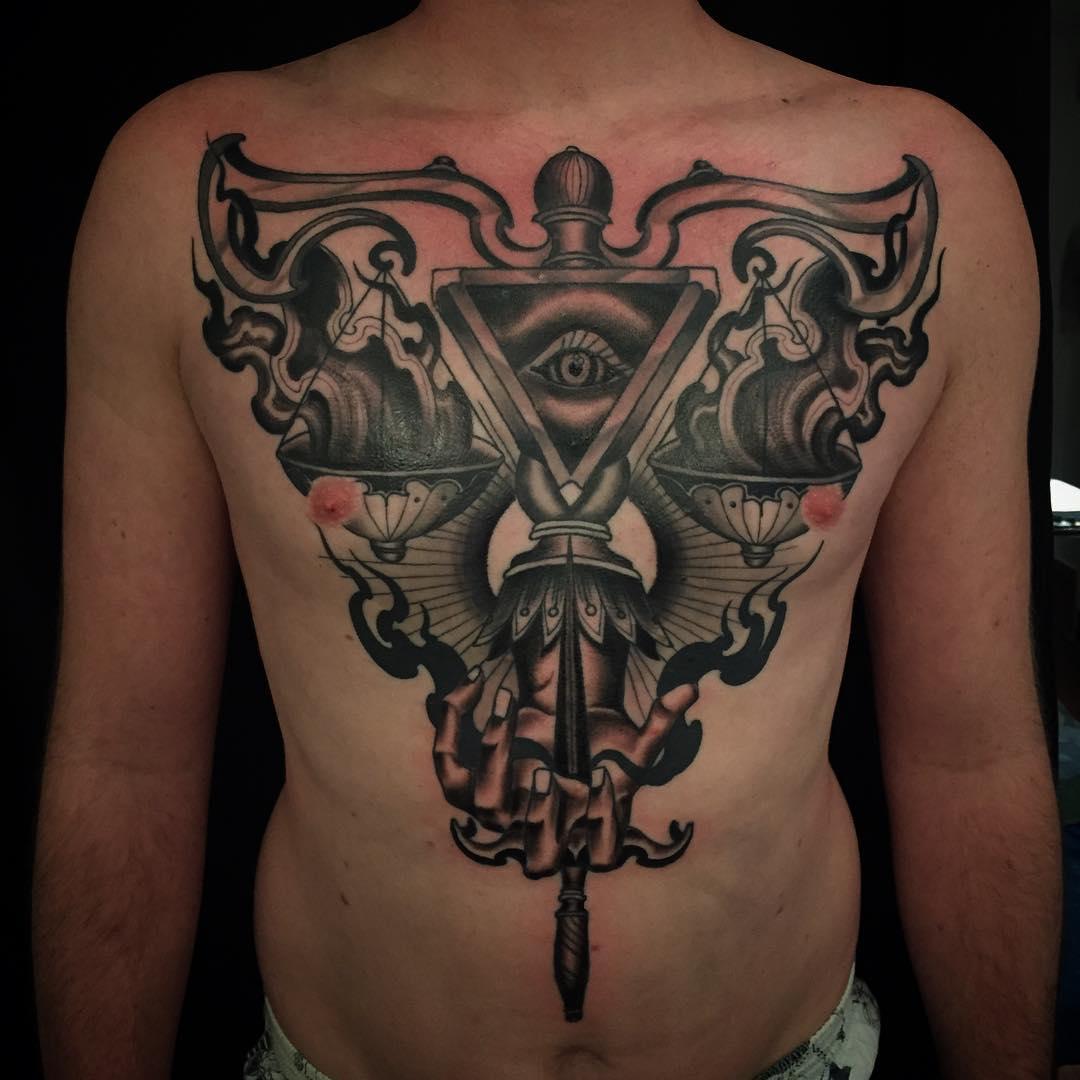 Libra with Eye Tattoo