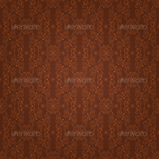 Floral Seamless Brown Pattern