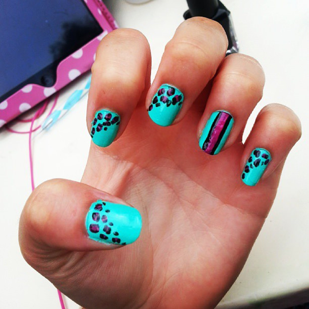 Beautiful Blue Nail Art