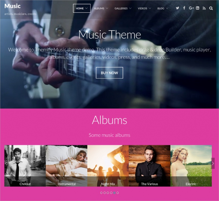 Artist Multipurpose WordPress Theme