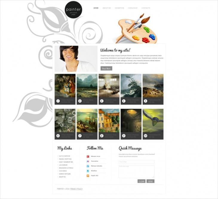 Painting Artist Moto CMS HTML Template