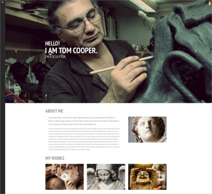 Sculptor Website Template