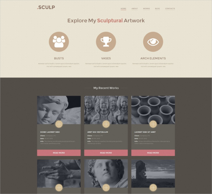 Sculpture Stylish Artists Template