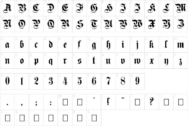 germanica font