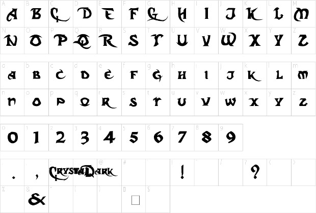 dark cristal font