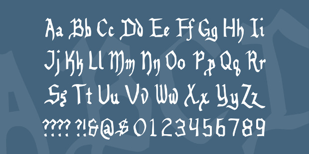 stylish benegraphic font