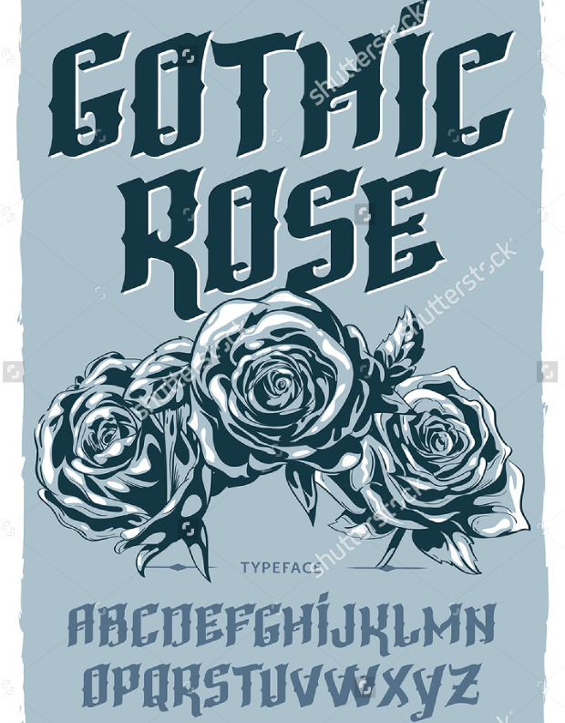 Gothic Rose Font