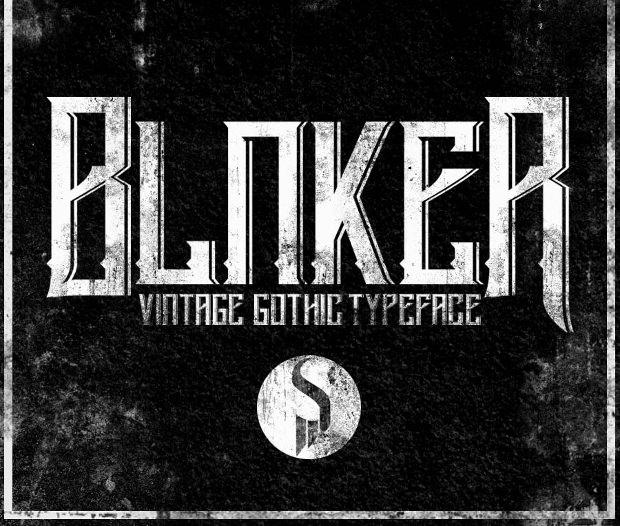blanker vintage gothic typeface