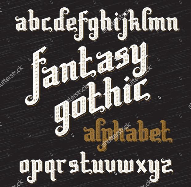 fantasy gothic font