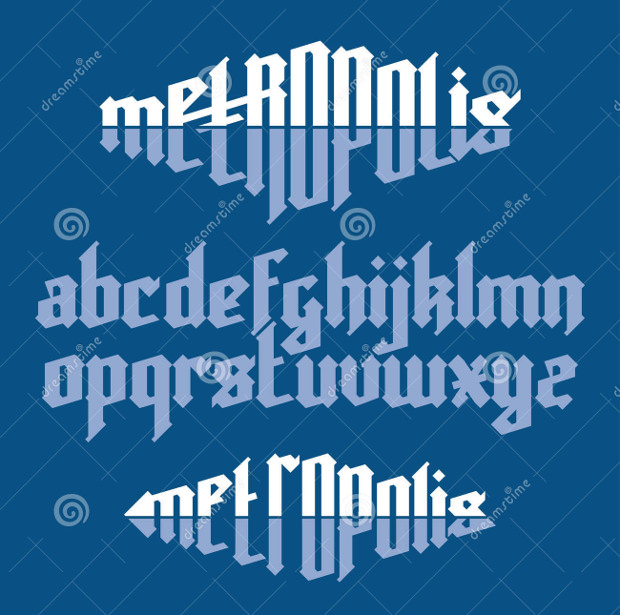 creative metropolis gothic font