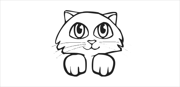 free cat face clipart