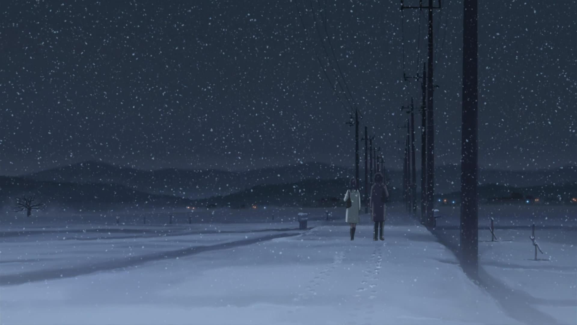 Snowfall Painting Image