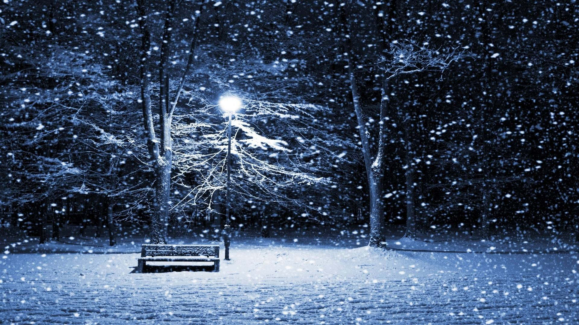 Winter Snowfall Background