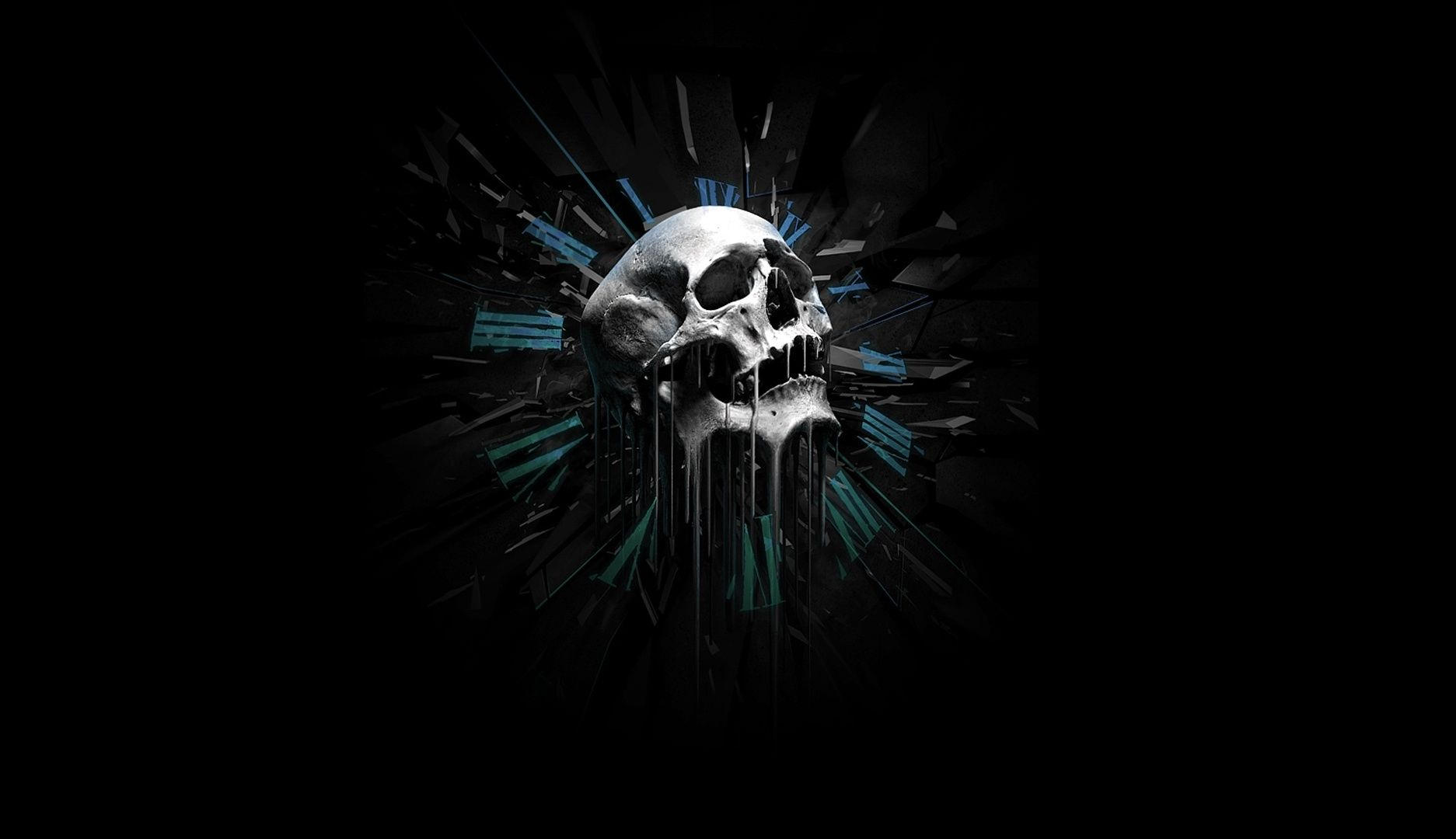 3d Effect Skull Wallpaper