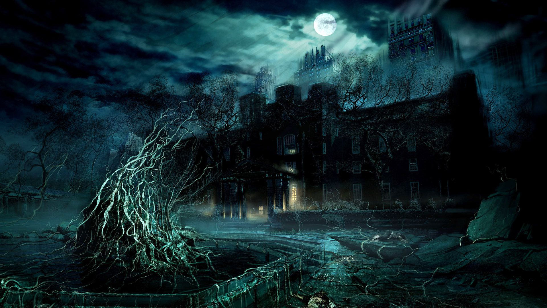 Scary Castle Image Wallpaper