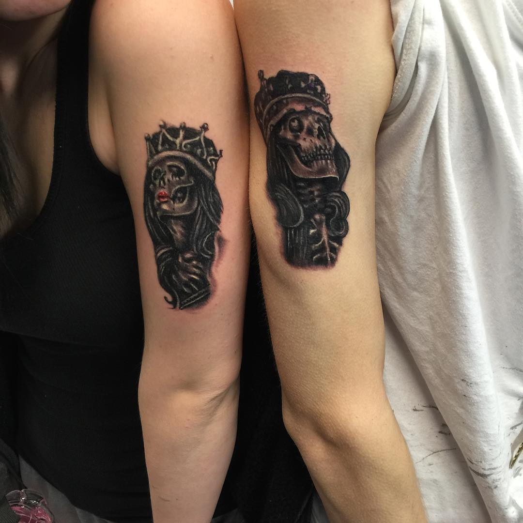 creative couple tattoo design