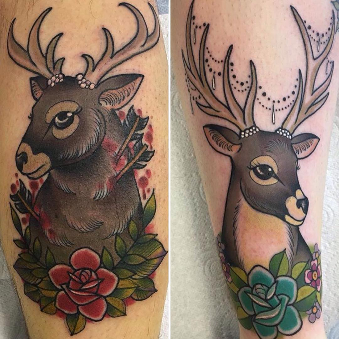 Beautiful Deer Tattoos