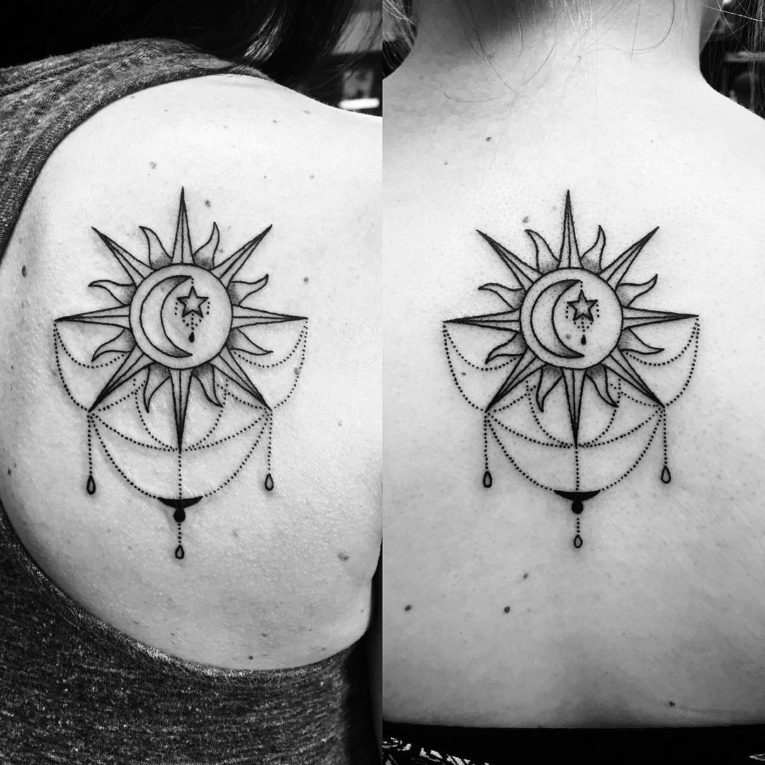 Sun Lace Tattoo Design