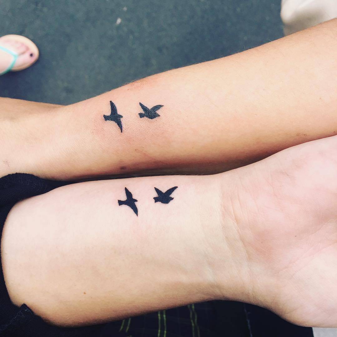 28 Matching Tattoo Designs Ideas: 28+ [small Matching Tattoo Ideas]