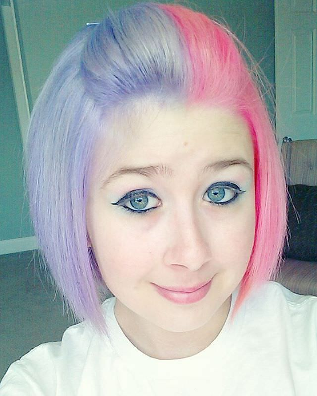 Pink And Purple Short Hair