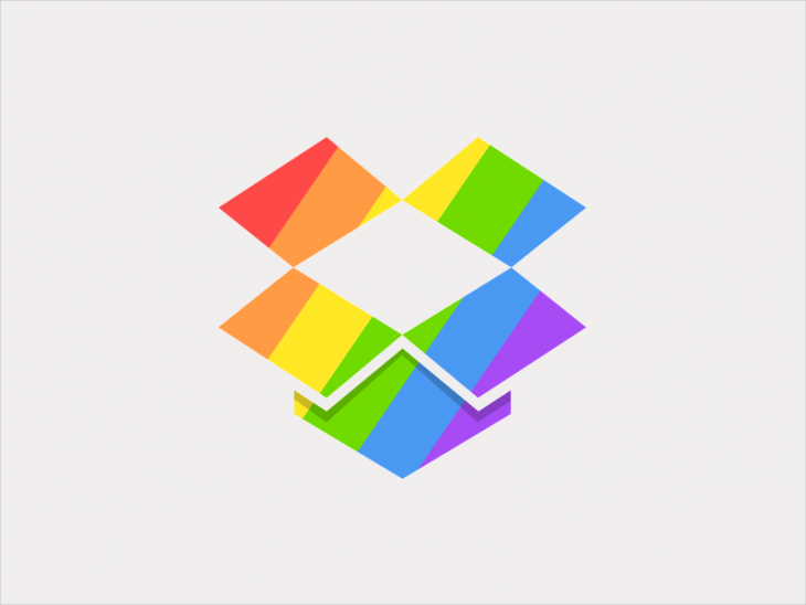 Rainbow Color Dropbox Logo