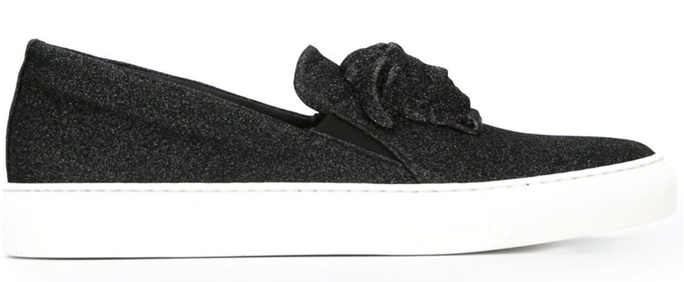 stylish medusa slip on sneakers