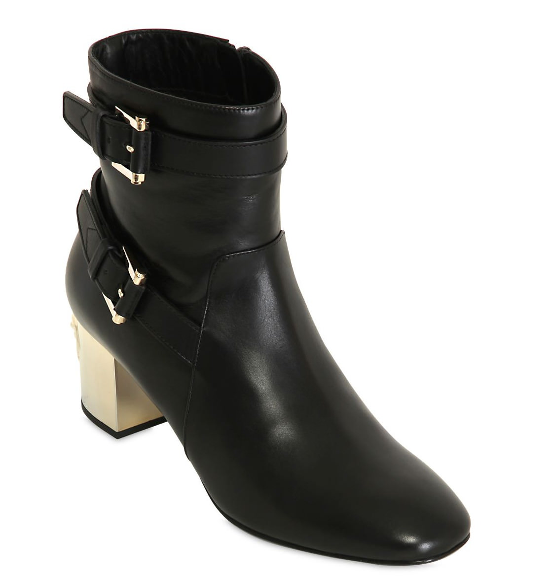 medusa heel leather ankle boots