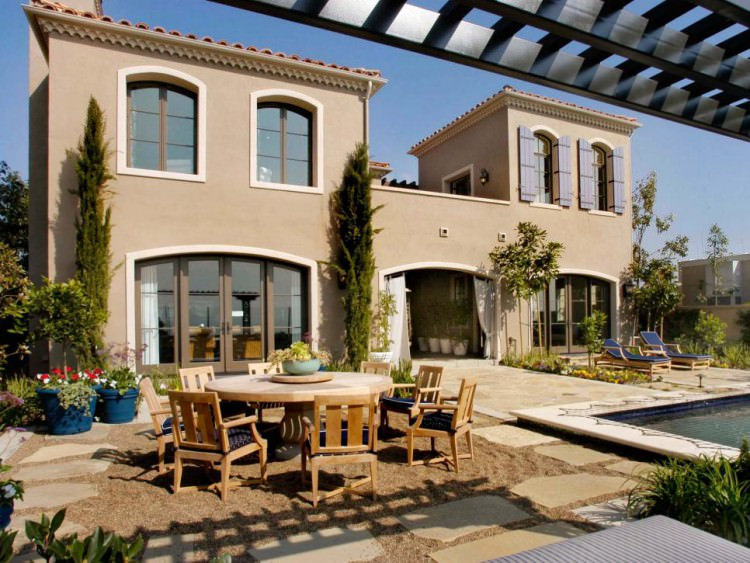 Mediterranean Home With Large Patio and Swimming Pool