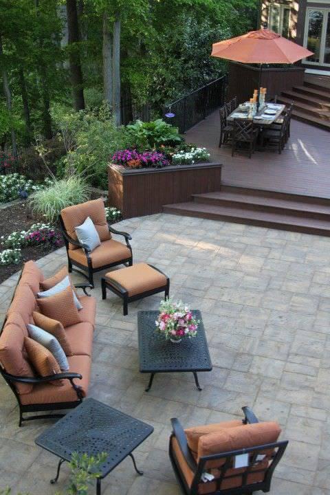 Peaceful Backyard Patio design
