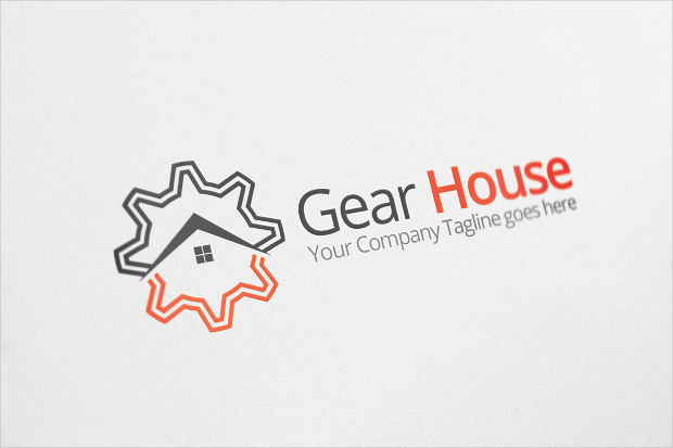 gear house logo for personal or company use