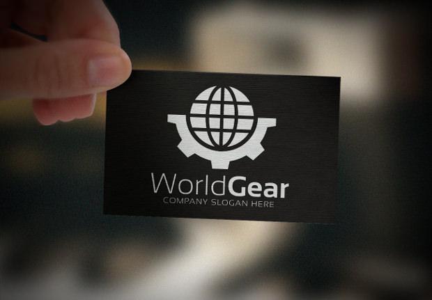 Globe and Half Gear