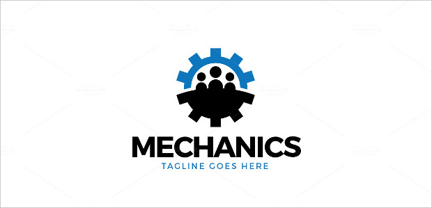 logo of team symbol combined with gear