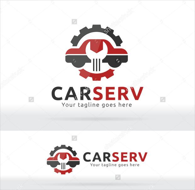 car repair and service logo