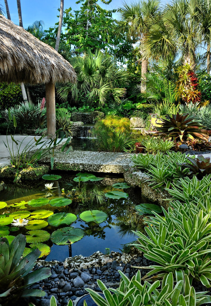 24+ Tropical Garden Designs, Decorating Ideas | Design ... on Tropical Patio Ideas id=16290